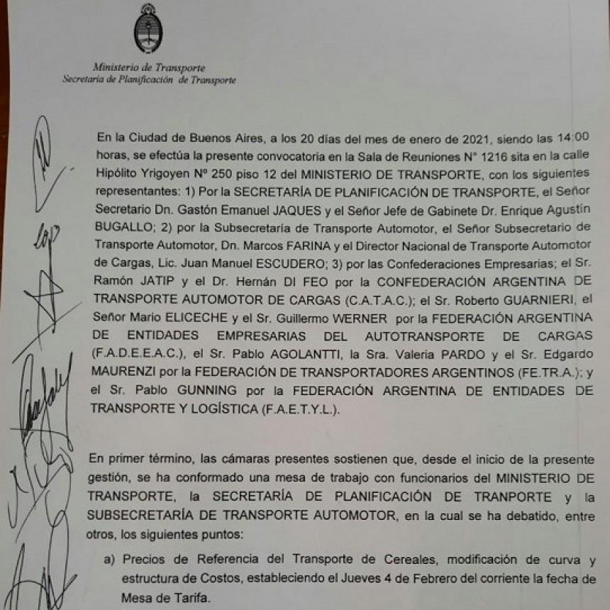Cámaras del Sector se reúnen en el Ministerio de Transporte