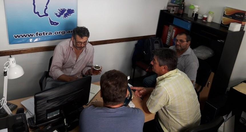 Autoridades del Centro de Transportistas de Totoras en Fe.Tr.A