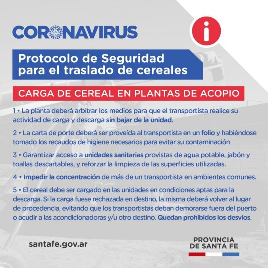 Carga de cereal de plantas de acopio.