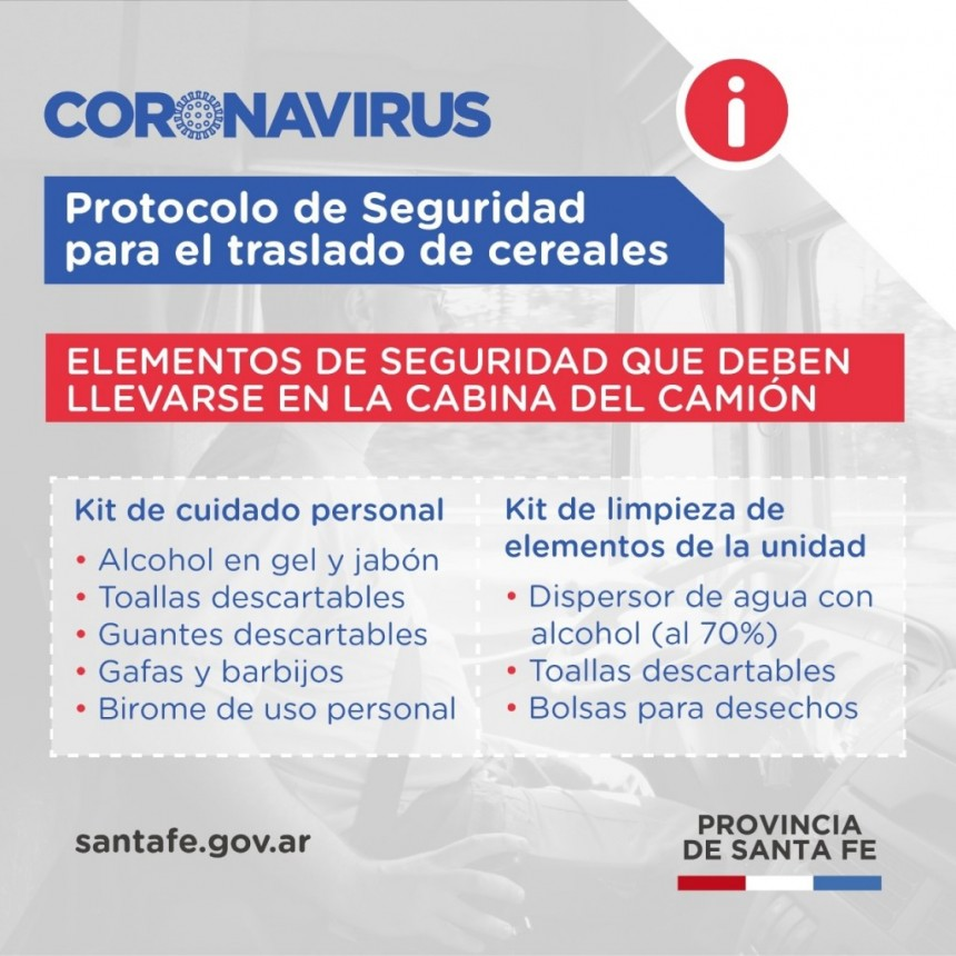 Elementos de seguridad que deben llevarse en la cabina del camión
