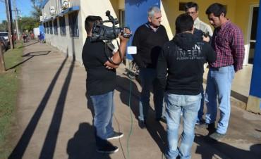 Asoc. Transportistas de Bandera junto a Fe.Tr.A en TV Añatuya.