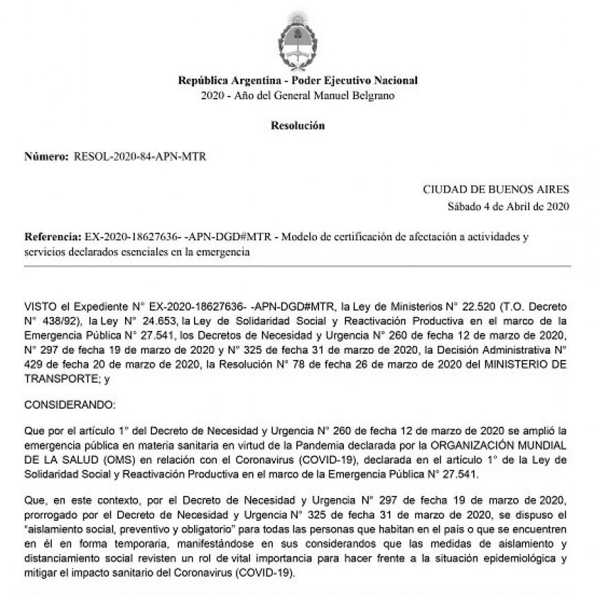 05 de Abril de 2020 Fe.Tr.A facilita la nueva Declaración Jurada para Circular.