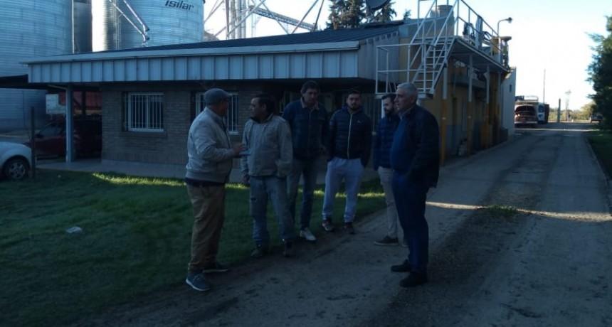 Centro de Transportistas de Ricardone junto a Fe.Tr.A se reúnen con directivo de Cereales del Plata