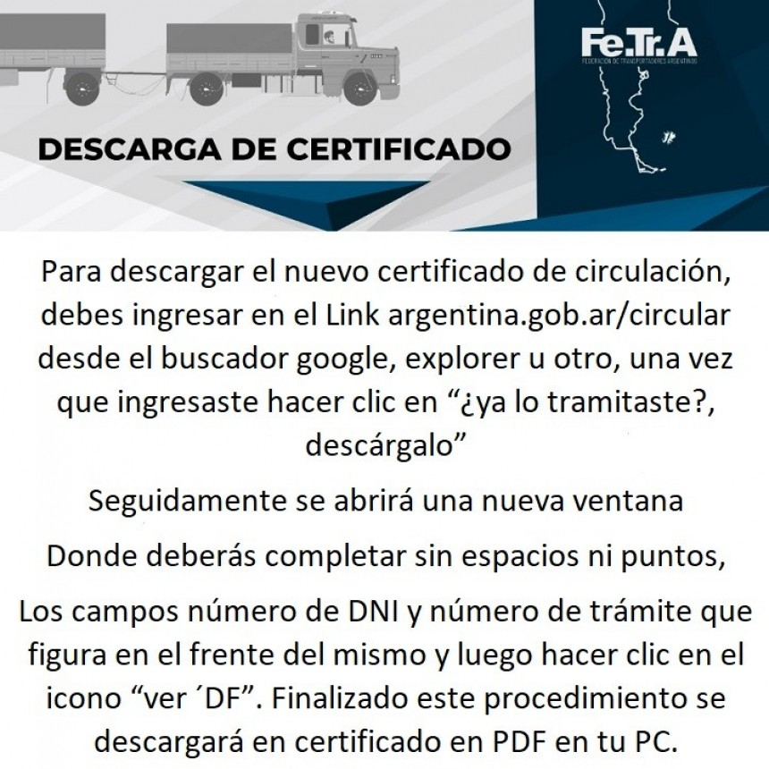 DESCARGA DE CERTIFICADO