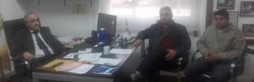 Centro de Transportistas de Chañar Ladeado en reclamo por trabajo.