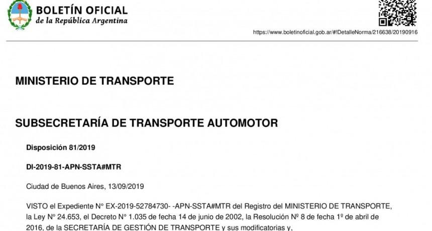 Tarifa Nacional de Cereales y Oleaginosas Fe.Tr.A, ya esta en el Boletín Oficial.