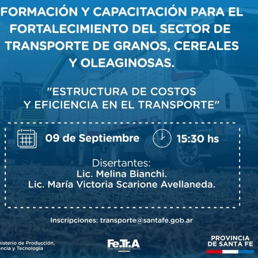 Jornada de Formación y Capacitación para el fortalecimiento del Sector  de Transporte de Granos, Cereales y Oleaginosas.