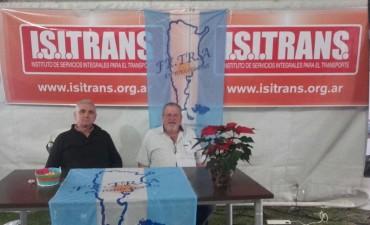 Fe.Tr.A y Fundación I.S.I.Trans en Expo fiesta del Transportista en Pujato.