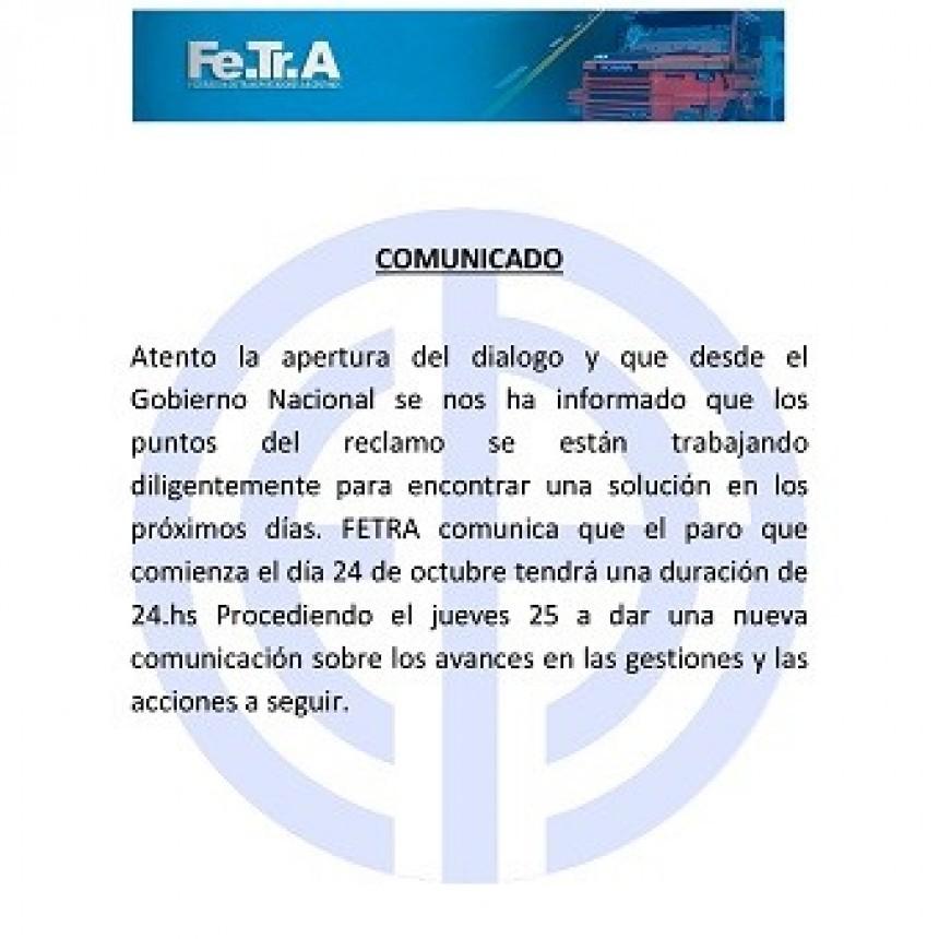 Comunicado de Fe.Tr.A
