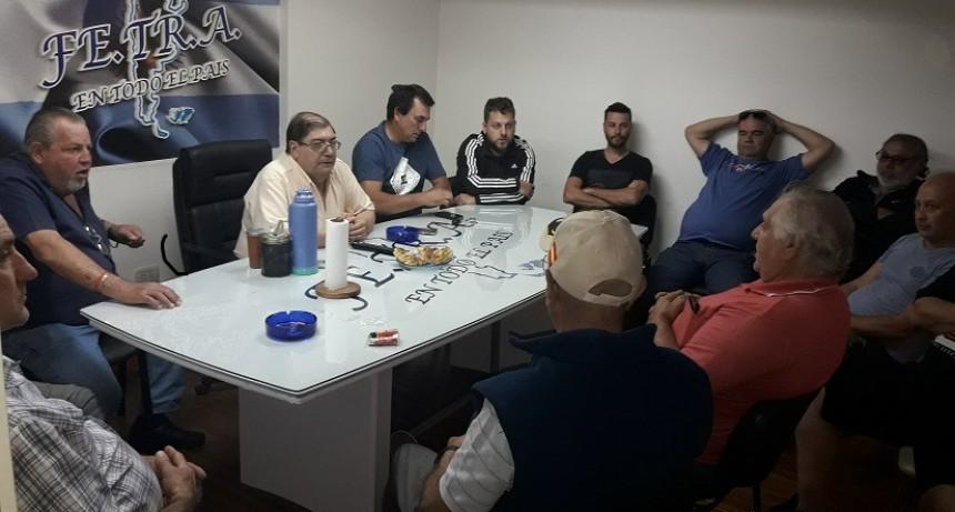Los Transportistas de las dos Asociaciones adheridas de la Ciudad de Rosario en Sede Nacional de Fe.Tr.A