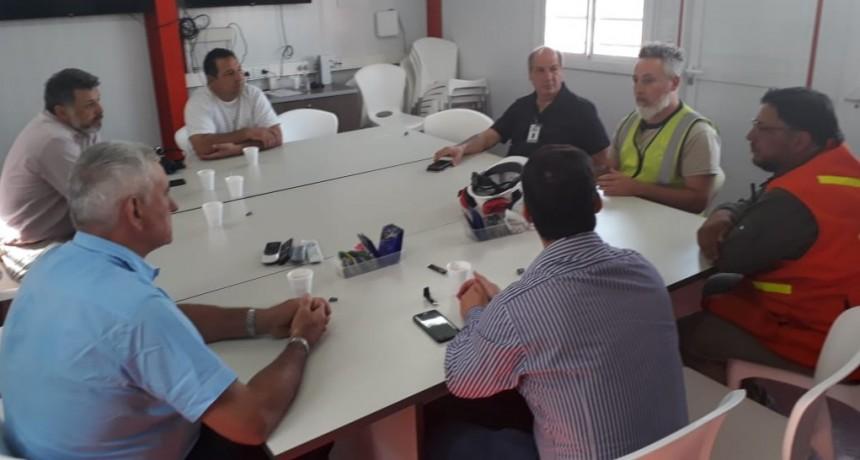 Dirigentes de Fe.Tr.A y transportistas adheridos visitan el nuevo Puerto de AGD en Timbues.